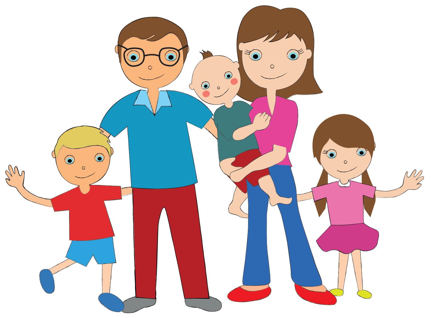 cartoon family of 5 wwwpixsharkcom images galleries